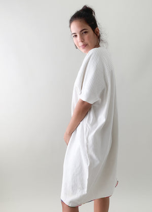 Vintage White Cotton Caftan
