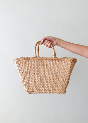 Vintage Market Wicker Tote Bag
