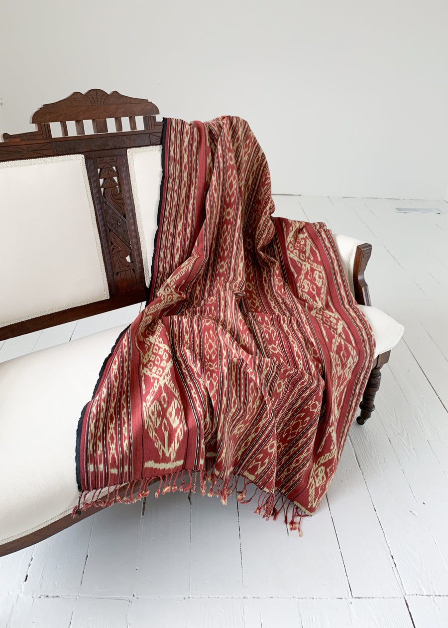 Vintage Ikat Throw