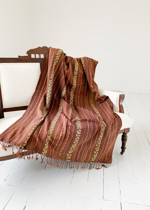 Vintage Sun Bleached Ikat Throw