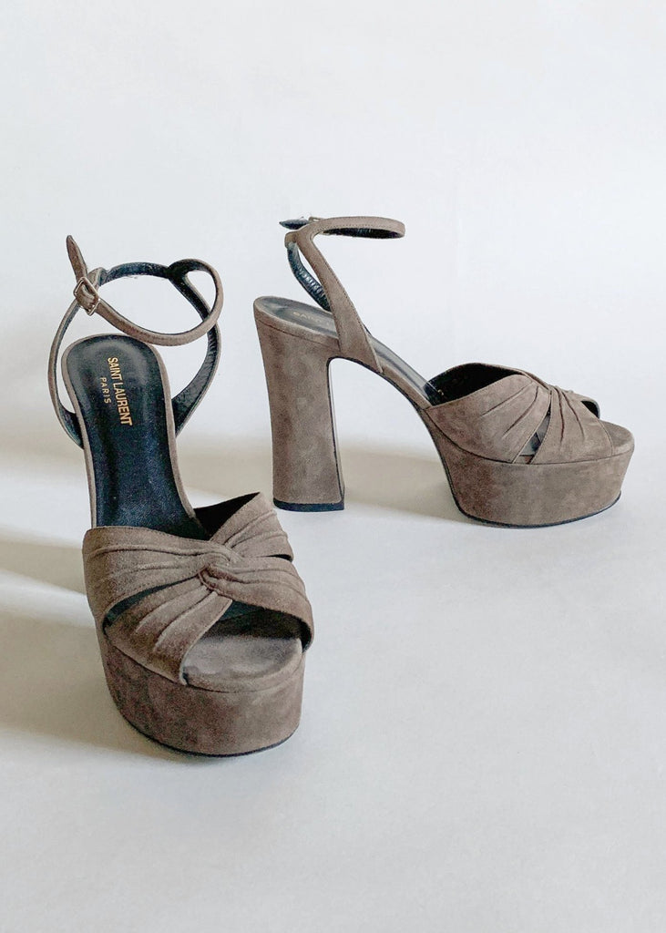 Yves Saint Laurent Suede Platform Shoes