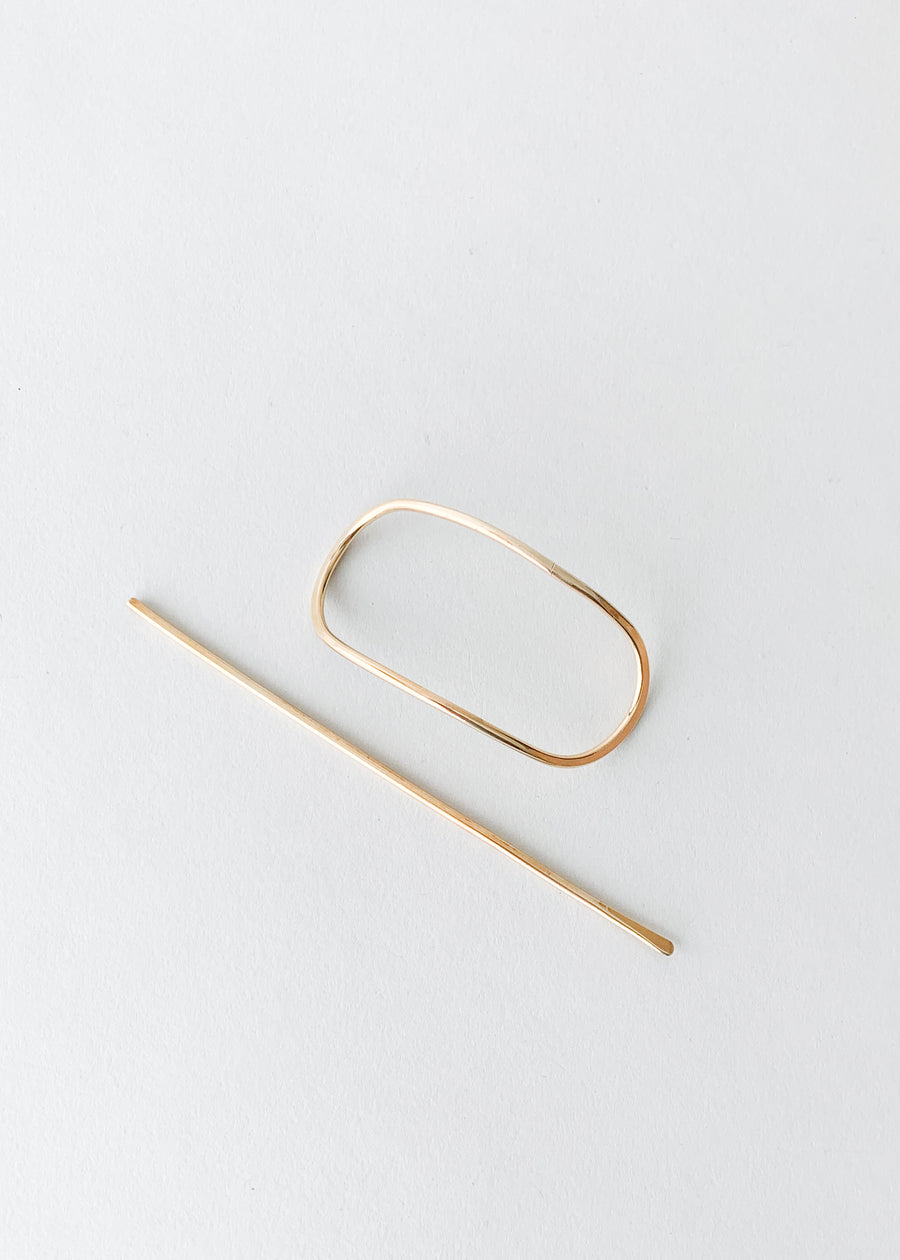 Oval Golden Sands Hairpin