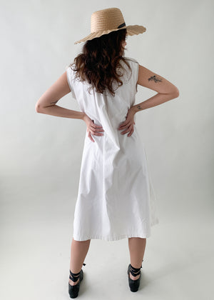 Antique Early 1900s White Summer Dress