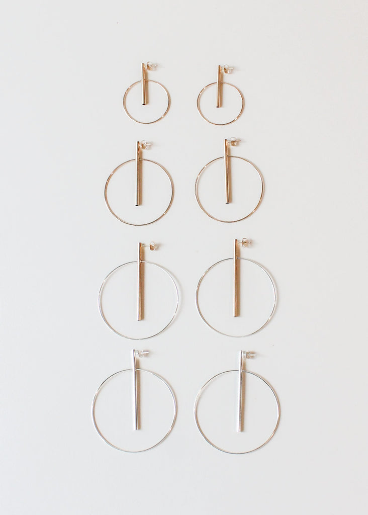 S. Tector Metals Pendulum Hoop Earrings