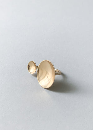 Brass Duo Dome Ring