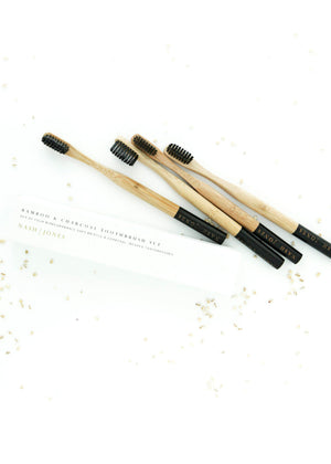 Bamboo & Charcoal Toothbrush Set