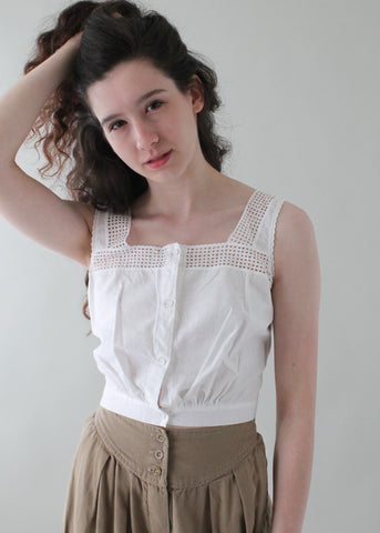 Antique Edwardian Cotton Tank Top