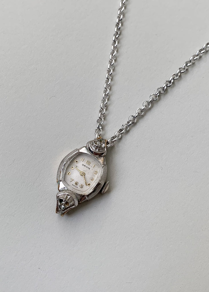 Vintage Timeless Love Watch Necklace