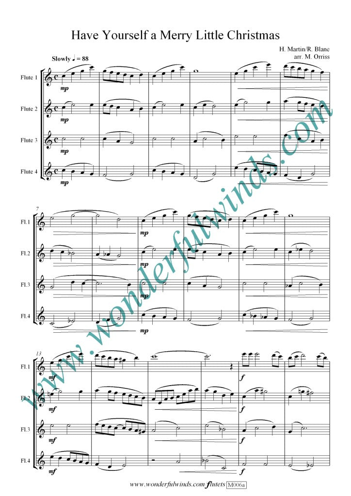Have Yourself A Merry Little Christmas Sheet Music.M006a Have Yourself A Merry Little Christmas Martin H Blane R