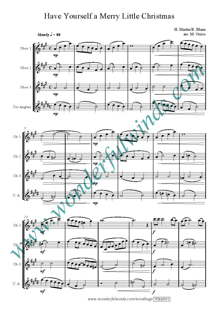 Have Yourself A Merry Little Christmas Sheet Music.Wbm001 Have Yourself A Merry Little Christmas Martin H Blane R