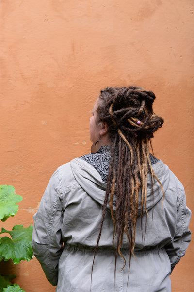 How to make a dreadlock updo