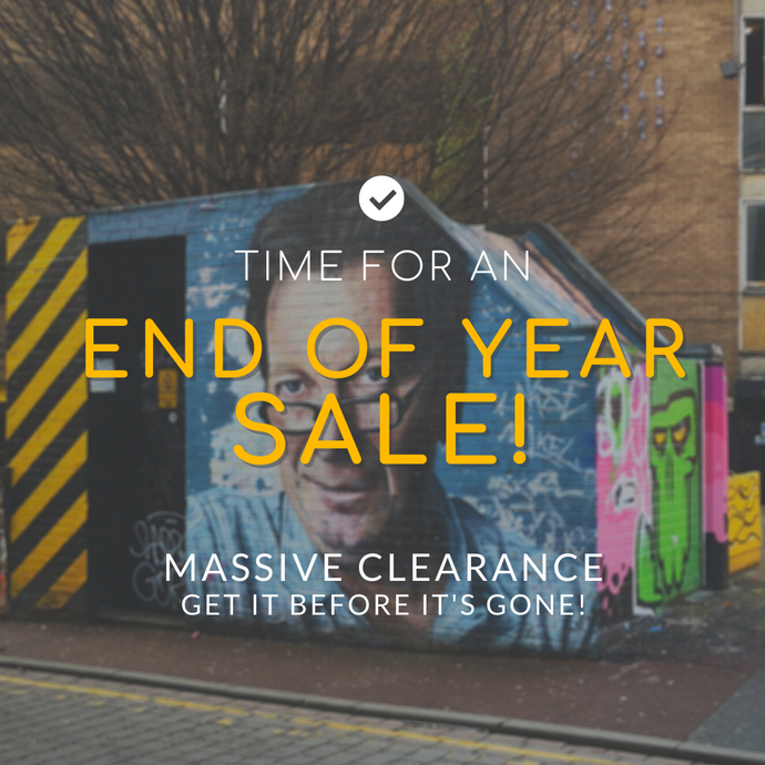 We're havin' a clear out... Fancy 50% off?