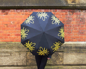 Keep dry with our Manchester Bee brollies! 🐝☔️ - The Manchester Shop