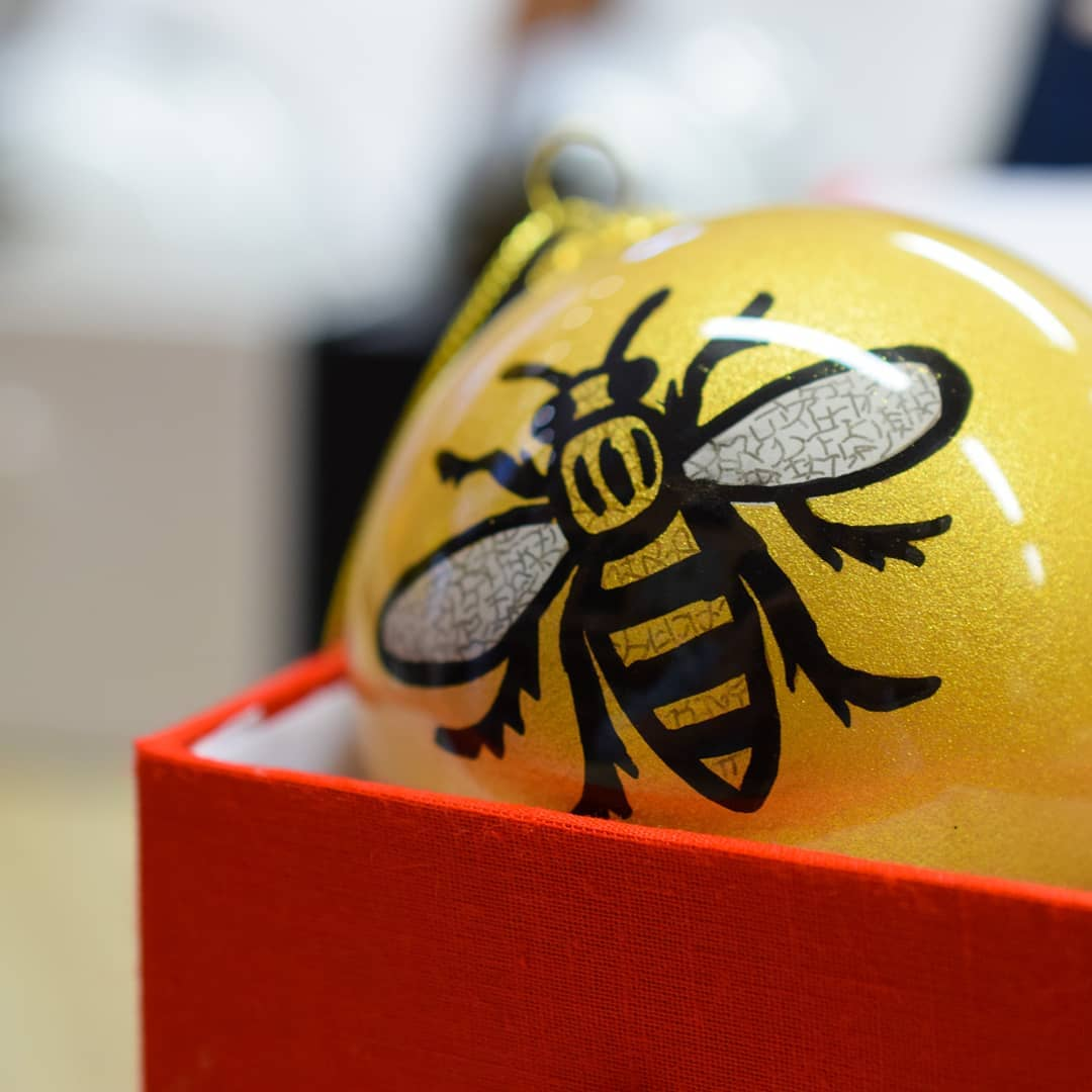 Manchester Bee Bauble - The Manchester Shop