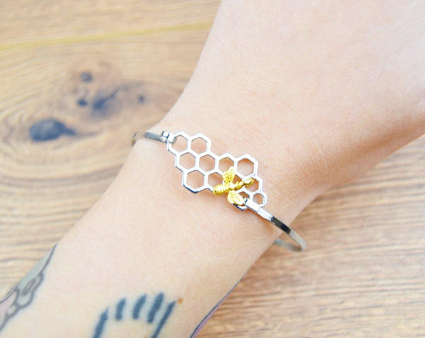 Bee Honeycomb Bangle - The Manchester Shop