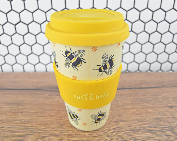 Bee Print Reusable Cup - The Manchester Shop