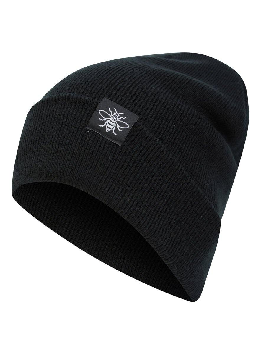 Bee Tag Black Beanie - The Manchester Shop