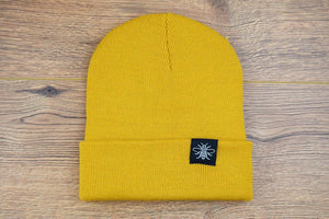 Bee Tag Mustard Beanie - The Manchester Shop
