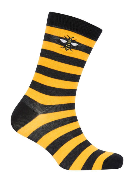 Black and Yellow Stripy Bee Socks - The Manchester Shop