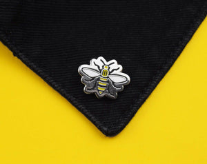 Cut Out Manchester Bee Pin - The Manchester Shop