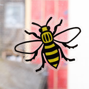 MANCHESTER BEE WINDOW STICKER