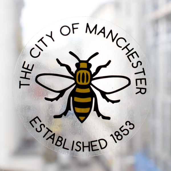THE CITY OF MANCHESTER - EST. 1853 WINDOW STICKER