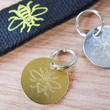 Engraved Manchester Bee Metal Pet Collar Tag - The Manchester Shop