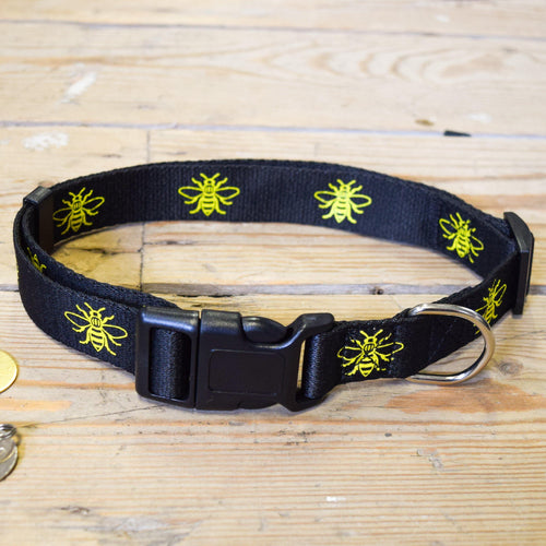 Manchester Bee Dog Collar