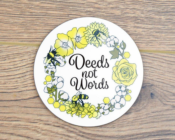 Deeds Not Words Coaster - The Manchester Shop