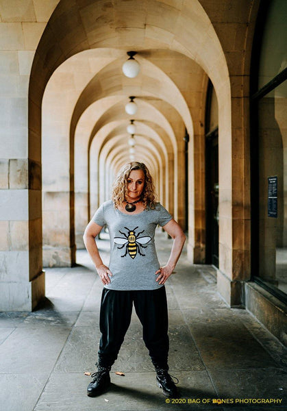 Ladies Glitter Worker Bee T-Shirt - The Manchester Shop