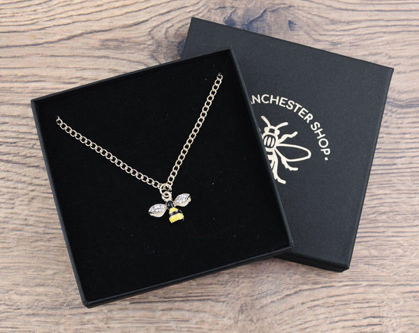 Glitter Bee Necklace - The Manchester Shop
