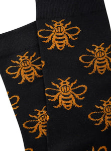 Glitter Worker Bee Socks - The Manchester Shop