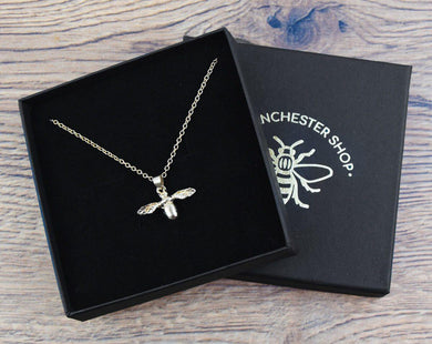 Gold Dainty Bee Necklace - The Manchester Shop