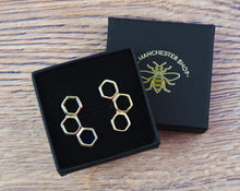 Gold Honeycomb Stud Earrings - The Manchester Shop