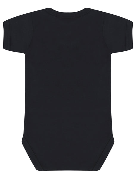Made In MCR Black Baby Grow - The Manchester Shop