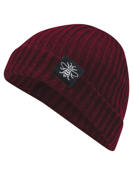 Maroon Manchester Bee Fisherman Beanie - The Manchester Shop