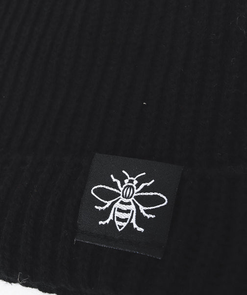 Black Manchester Bee Fisherman Beanie - The Manchester Shop