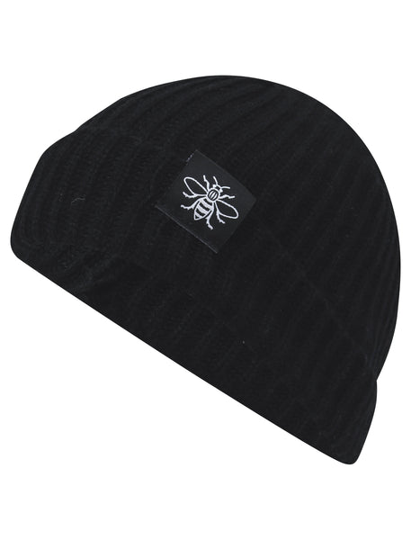 Black Manchester Bee Fisherman Beanie