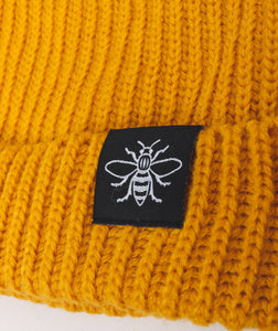 Mustard Manchester Bee Fisherman Beanie - The Manchester Shop