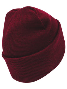 Maroon Embroidered Manchester Bee Beanie