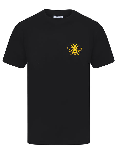 Yellow Pocket Worker Bee Black T-Shirt