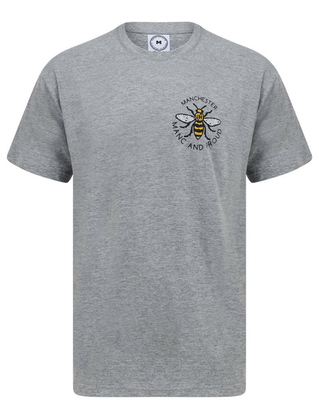 Mosaic Bee Manc & Proud Grey T-Shirt - The Manchester Shop