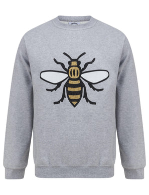 Glitter Bee Grey Jumper