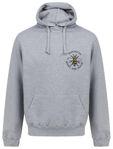 Manc & Proud Mosaic Bee Grey Hoody - The Manchester Shop