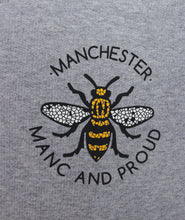 Manc & Proud Mosaic Bee Grey Hoody
