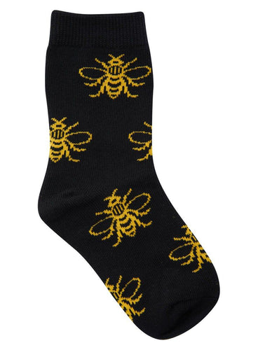 Kids Black Manchester Bee Socks - The Manchester Shop