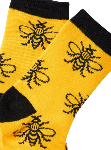 Kids Yellow Manchester Bee Socks - The Manchester Shop