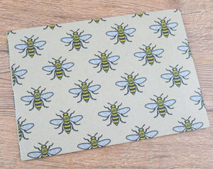 Manchester Bee Wrapping Paper - The Manchester Shop