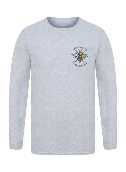 Manchester Established 1853 Grey Long Sleeve T-Shirt - The Manchester Shop