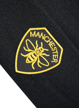 Manchester Shield Patch Black Beanie - The Manchester Shop